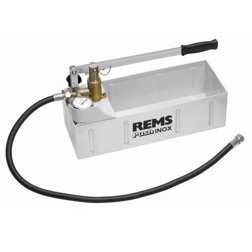 REMS Push Pompă manuală de control instalatii, cu manometru si cuva INOX