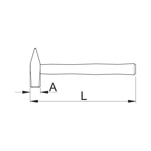 812 Ciocan lacatuserie,260mm Unior