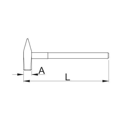 816 Ciocan de mana,600 mm Unior