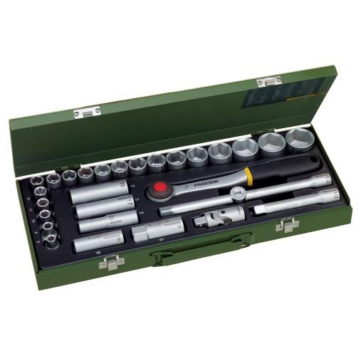 "Proxxon 23000 - Trusa de chei tubulare 1/2"" - 29 de piese"