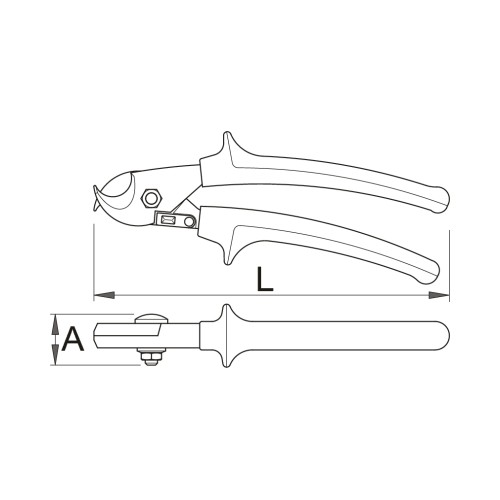 609238 Foarfeca de cabluri 580/1BI