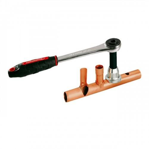 Dispozitiv pentru confectionat T-uri, set 12-15-18-22-28 mm, Rothenberger, 22103