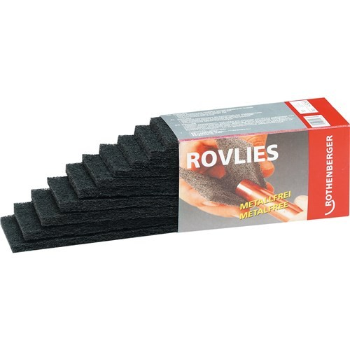 Abraziv pentru curatat tevi Cu, tip ROVLIES (contine 10 buc. 130 x 60mm) Rothenberger