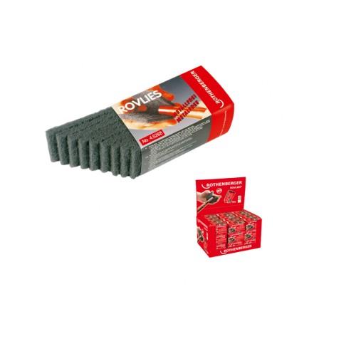 Abraziv pentru curatat tevi Cu, tip ROVLIES (contine 10 buc. 130 x 60mm) Rothenberger, 45268