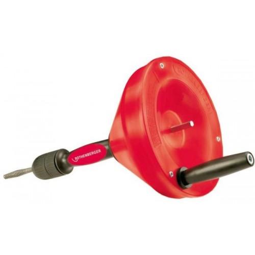 Dispozitiv pentru desfundat conducte tip Rospi 6H + E Plus ( 6,4mm / 4,5m), Rothenberger, 72090