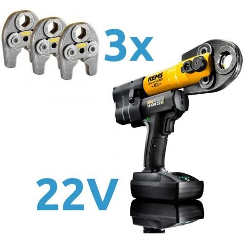 Presa radiala cu acumulator, REMS Mini-Press 22 V ACC Basic-Pack, 578X05