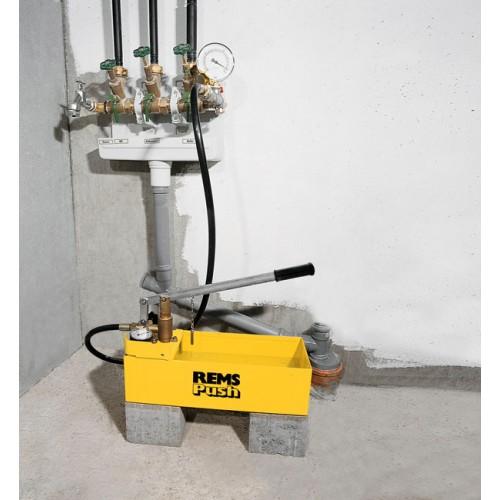 REMS Push Pompă manuală de control instalatii, cu manometru